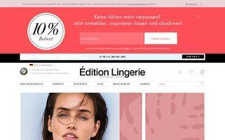 Edition Lingerie Webseiten Screenshot