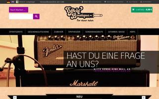 Effekt Boutique Webseiten Screenshot
