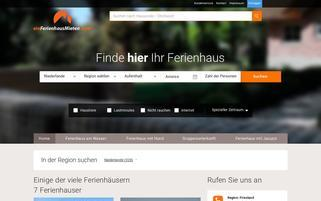 Einferienhausmieten.com Webseiten Screenshot