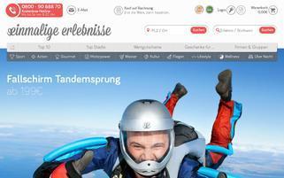 Einmalige Erlebnisse Webseiten Screenshot