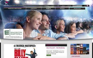 Eintrittskarten.de Webseiten Screenshot