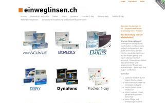 Einweglinsen.ch Webseiten Screenshot