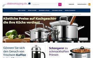 Elektro Shopping Webseiten Screenshot