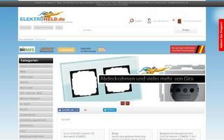 Elektroheld Webseiten Screenshot