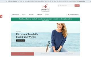 EMILIA LAY Webseiten Screenshot
