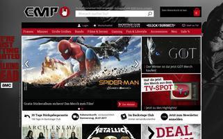 EMP Webseiten Screenshot