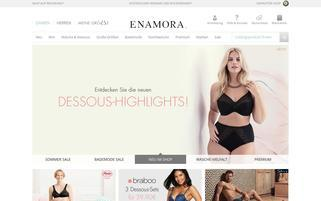 Enamora Webseiten Screenshot