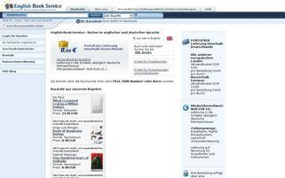 English Book Service Webseiten Screenshot