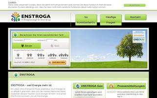 ENSTROGA Webseiten Screenshot