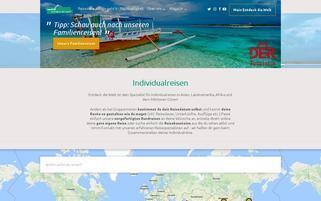Entdeck die Welt Webseiten Screenshot