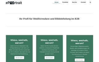 ePortrait Webseiten Screenshot
