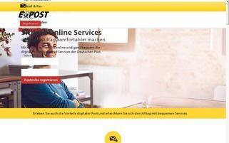 ePost Webseiten Screenshot