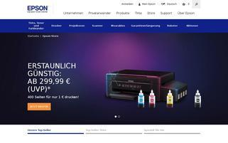 Epson Webseiten Screenshot