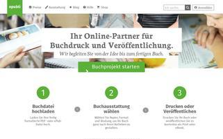 epubli Webseiten Screenshot
