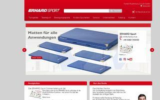 Erhard Sport Webseiten Screenshot