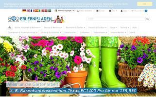 Erlebnisladen Webseiten Screenshot