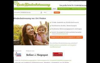 ErsteKinderbetreuung Webseiten Screenshot