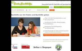 ErsteNachhilfe Webseiten Screenshot