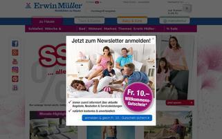 Erwin Müller Schweiz Webseiten Screenshot