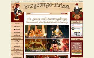 Erzgebirge-Palast Webseiten Screenshot
