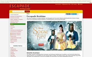 Escapade Webseiten Screenshot