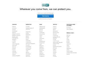 ESET Webseiten Screenshot