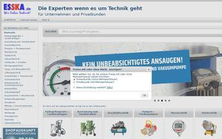 ESSKA Webseiten Screenshot