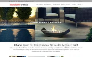 ethanolkamin-online.de Webseiten Screenshot
