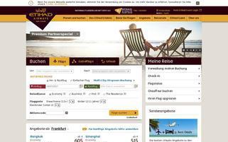 Etihad Webseiten Screenshot