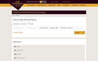 etihadairways.com Webseiten Screenshot