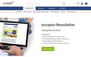 Eurapon Webseiten Screenshot