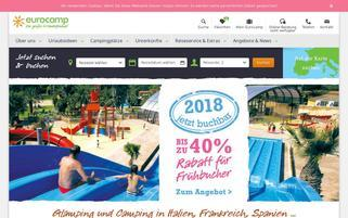 eurocamp Webseiten Screenshot