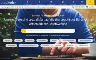 euroclinix.net Webseiten Screenshot