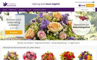euroflorist.at Webseiten Screenshot
