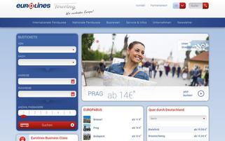 Eurolines Webseiten Screenshot