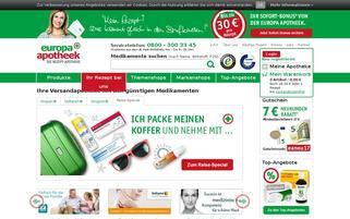europa apotheek Webseiten Screenshot
