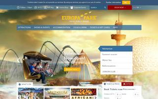 Europa-Park Webseiten Screenshot
