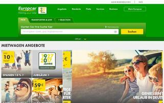 Europcar Webseiten Screenshot