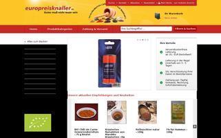 europreisknaller.de Webseiten Screenshot