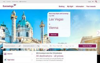 Eurowings Webseiten Screenshot