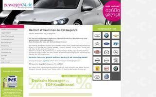 EUWagen24 Webseiten Screenshot