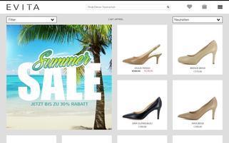 Evita Webseiten Screenshot