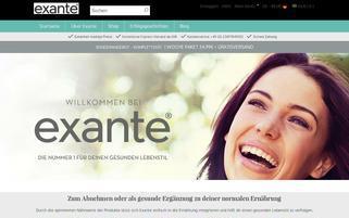 Exante Diät Webseiten Screenshot