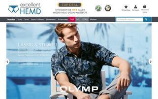 Excellent Hemd Webseiten Screenshot