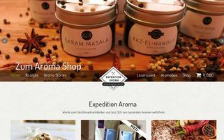 expedition-aroma.de Webseiten Screenshot