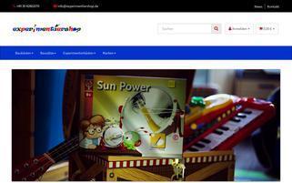 experimentiershop.de Webseiten Screenshot