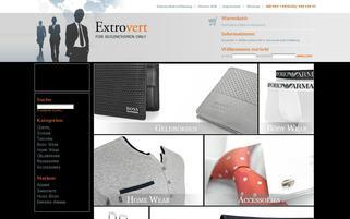 Extrovert Webseiten Screenshot