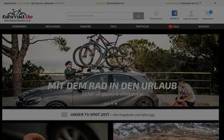 Fahrrad.de Webseiten Screenshot