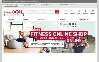 Fahrrad XXL Webseiten Screenshot