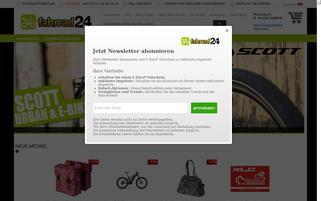 Fahrrad24.de Webseiten Screenshot